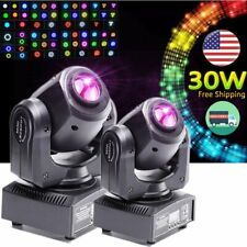 2Pcs 30W Rgbw Led 8Gobo Stage Lighting Dmx Party Dj Projector Moving Head Lights