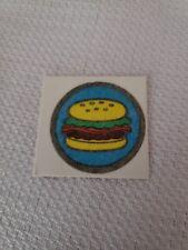 Vintage Cracker Jack Fabric Sticker Hamburger