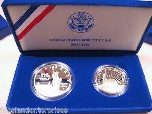 1986 Ellis Island 1886-1986  U.S. Mint Set - $1 & $.50 proof set Uncirculated