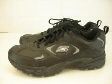 Mens 10 M Skechers Vigor Sport Black Leather Shoes Sneakers Walking Comfort Work