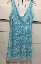 Alexia Admor Tiffany Blue Party Dress stretch knit Medium Women Juniors Medium