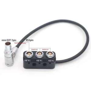 ARRI Alexa Mini EXT-RS Adapte Power Splitter Box 7 Pin to Fischer 3Pin 0B 2*2pin