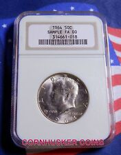 1964 MS Kennedy Silver Half Dollar NGC SAMPLE SLAB - BRIGHT UNCIRCULATED COIN!