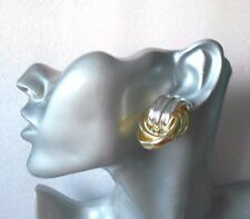 Lovely Silver and Gold Clip-on Earrings - Chunky - SECONDS QUALITY