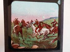Military Theme Rare Coloured Lithographic Magic Lantern Slide No 55