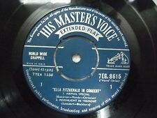 "ELLA FITZGERALD IN CONCERT 7EG 8615 RARE SINGLE 7"" INDIA INDIAN 45 rpm VG+"