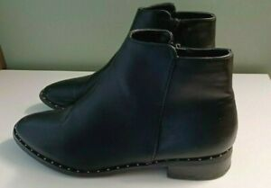 Oasis Chelsea Boots Black Studded Size 5 Ladies Womens