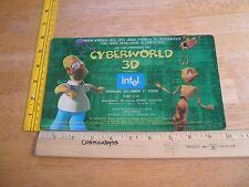 Cyberworld 3D The Simpsons Ants IMAX movie ticket invitation 2000 Intel
