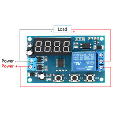 LED Delay Time Module Switch Board Control Relay Cycle Timer DC 12V Button