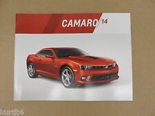 2014 Chevrolet Chevy Camaro LS LT SS ZL1 Original Sales Brochure Dealer Catalog