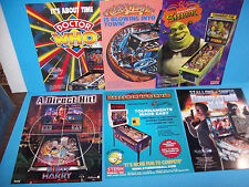 Lot Of (6) ORIGINAL PINBALL MACHINE Sales FLYERS Doctor Who Shrek DM DH Set  #33