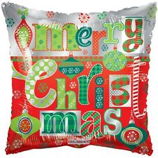 """Balloon Mylar Merry Christmas Ornaments 18"""" Party Decorations Gifts"""