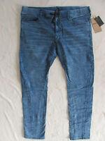 True Religion Dean Twisted Jeans-Drawstring-Falling Rocks-Blue -Size 38-NWT $179