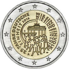 2015 Germany € 2 Euro Uncirculated UNC Coin German Unity 25 Years (Hamburg - J)