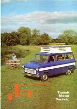 Ford Transit Mk1 Richard Holdsworth Caravan Mid 1970s UK Market Sales Brochure