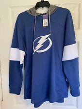 Tampa Bay Lightning Adidas Women's Blue Line Premium Hooded Sweatshirt XXL