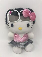 Hello Kitty 8 Inch Plush Hot Topic Australia 2006 Black Afro & Sunglasses