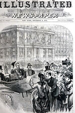New York DUKE ALEXIS - EQUITABLE LIFE ASSURANCE CO. 1871 Antique Print Matted