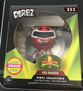 Funko Dorbz Mighty Morphin Power Rangers RED RANGER Metallic CHASE ON HAND