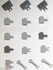 LEGO Blue Grey 1x1 1x2 Clip 4735 60476 60475 95820 4 SET 10179 10232 10134 10187