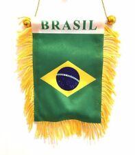 Brasil flag automobile rearview mirror or window flag car Home Brasilian pride