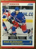 2010-11 Score Hot Rookies - RYAN McDONAGH #632 New York Rangers Rookie RC