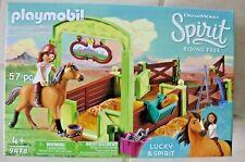 PLAYMOBIL 9478 Pferdebox Lucky und Spirit Spielzeug