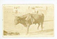 """Sword Thrust"""" Bullfighting RPPC El Paso TX Rare Antique Photo 1910s"""