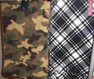 Scarves Black & White or Fleece Camo