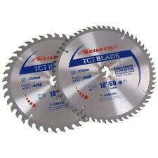 "2 x 10"" 254mm TCT Saw Cutting Discs / Blades 40 & 60 Teeth (Neilsen CT2521)"
