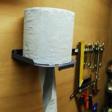 BLACK MegaMaxx Centrefeed Blue Roll Wall Mount Dispenser Paper Towel Holder