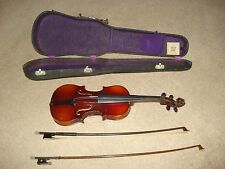Vintage Violin with Case & Two Bows