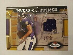 2002 Fleer Box Score Jamal Lewis Baltimore Ravens Tennessee - Jersey