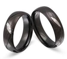 Anillos de joyería de metales preciosos sin piedras negro