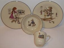 "Lenox Childs feeding set, Nursery porcelain ""Special"" set, 2 plates, bowl, & cup"