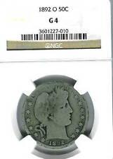 1892-O Barber Half : NGC G04