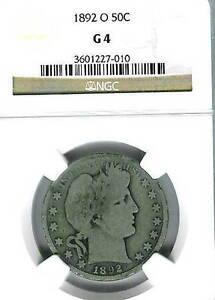 1892-O Barber Half Dollar : NGC G04