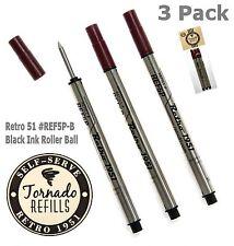 Retro 51 #REF5P-B / 3 Black Ink Tornado Rollerball Refills