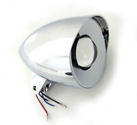 PROJECTION CUSTOM BILLET HEADLIGHT CHROME PROJECTOR LIGHT FITS HARLEY MOTORCYCLE