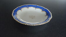 C4 Porcelain Victorian Blue & Gold Serving Plate 24x4cm 2A4B WELL USED