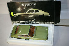 FORD CAPRI 1700 GT 1969 LIGHT GREEN MET. VERDE CHIARO 1:18 MINICHAMPS 180 08900