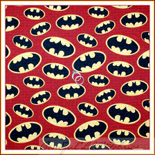 BonEful Fabric Cotton Quilt BATMAN Red Brick Black Marvel Comic Super Hero SCRAP
