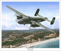 """Briefing Time"" Mark Karvon Giclee Print - WW II B-25 Mitchell"