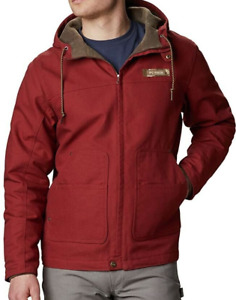 Columbia PHG Real Tree Roughtail Hooded Work Jacket Red Rust Men's Size Large