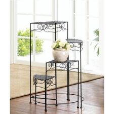 TRIANGULAR 4-Tier Plant Stand Iron Indoor Outdoor Flower