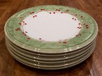 "* Set of 6 * Lenox HOLIDAY GATHERINGS Damask -- 9-1/4"" Salad Plates Plate Set"