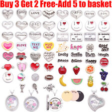Family Love Friend & 180+ Charms For Living Memory Floating Locket Necklace