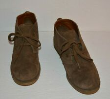 LUCKY BRAND EMILLIA BROWN LEATHER SUEDE ANKLE BOOTS WOMEN SZ 7.5 M *GUC*