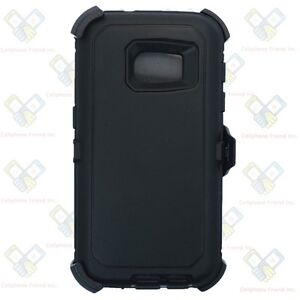 For Samsung Galaxy S7 Black Heavy Duty Shockproof Case with Belt Clip & Screen