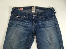 True Religion Billy Skinny Straight Womens Jeans 100% Cotton Distressed Size 25